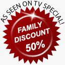 As Seen on TV - Family Discount 50% off!